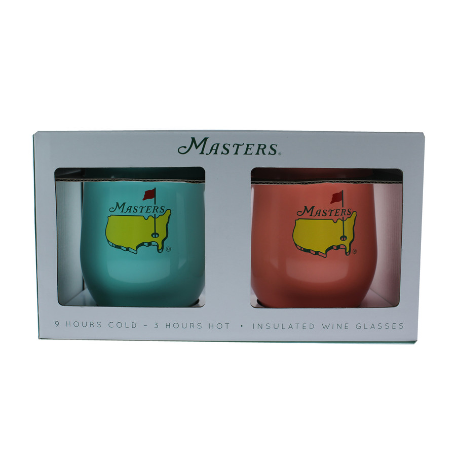 Masters Corkcicle 12oz Stemless Mint & Coral - Set of 2