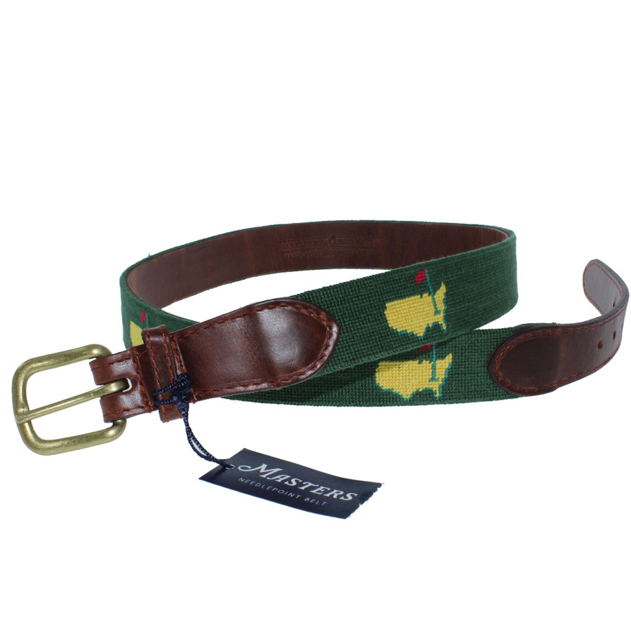 Masters Smathers & Branson Needlepoint Belt - Green
