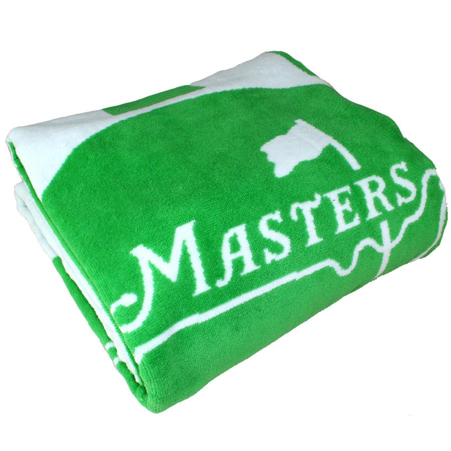 Masters Beach Towel - Lime & White