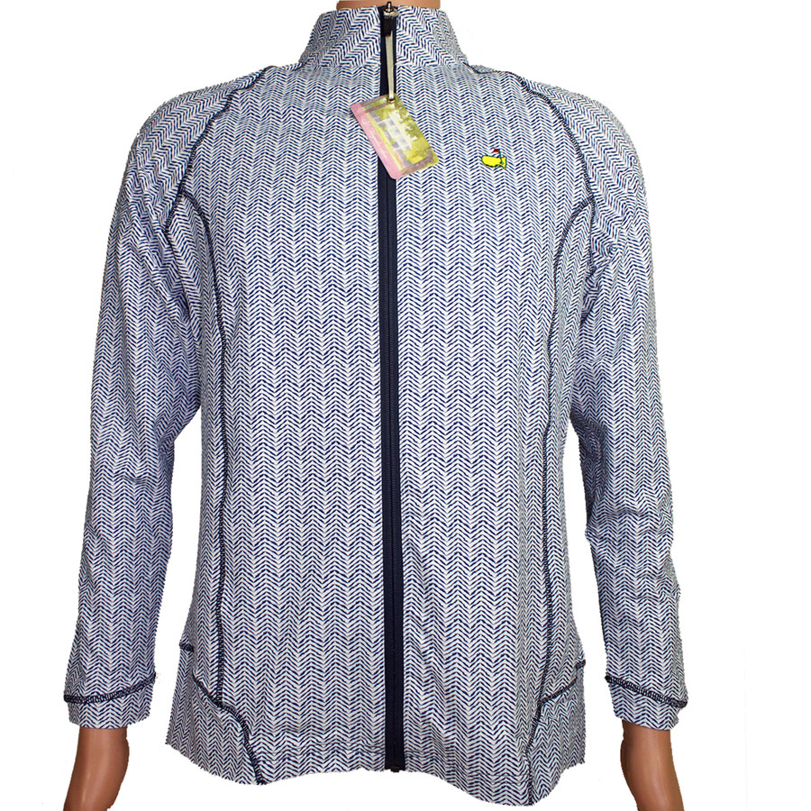 Masters Magnolia Lane Navy & White Full Zip Jacket