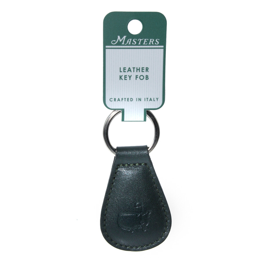 Masters Italian Leather Green Key Fob