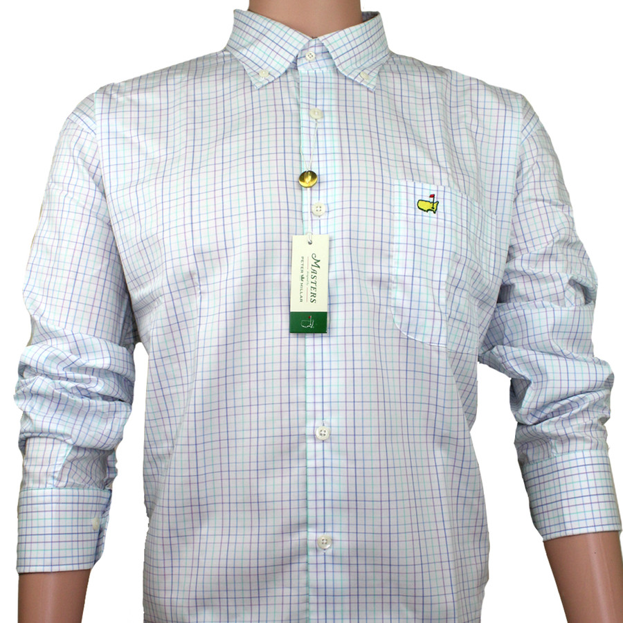 Masters Peter Millar Dress Shirt - White & Multi Colored