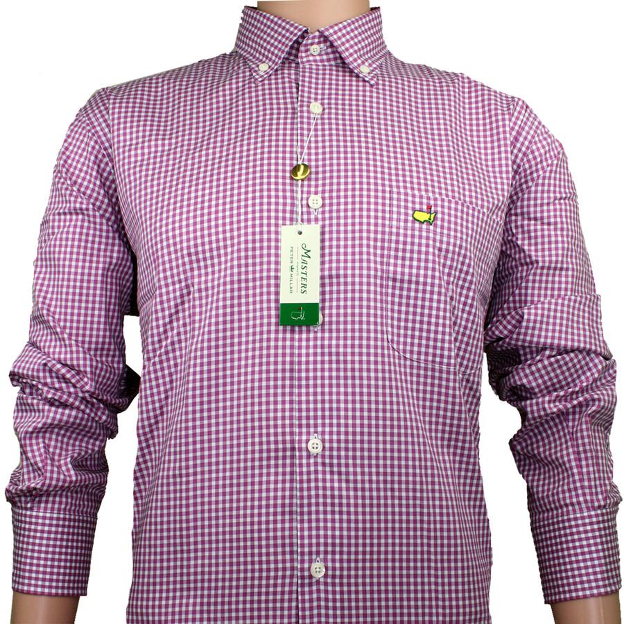 Masters Peter Millar Dress Shirt - Rosebud Checkered