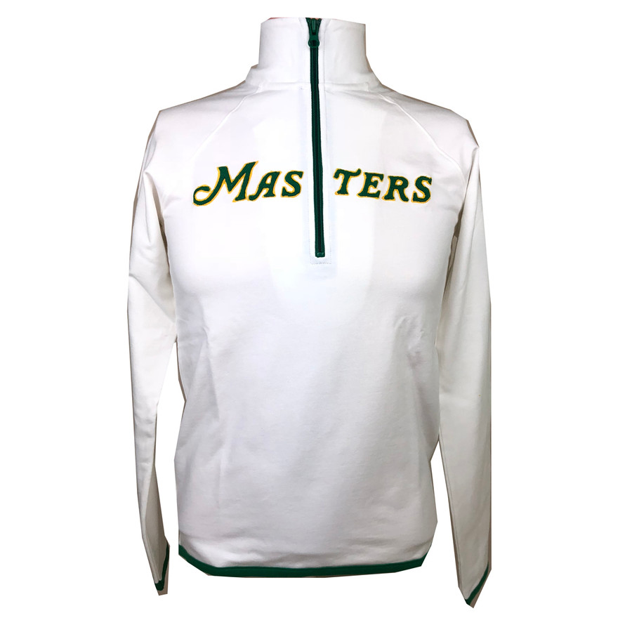 Masters 47 Brand Script Masters 1/4 Zip Cotton Jacket - White