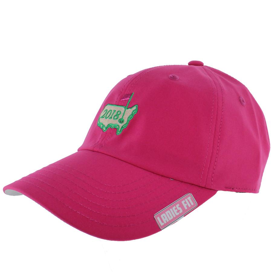 2018 Masters Pink Logo Performance Tech Hat