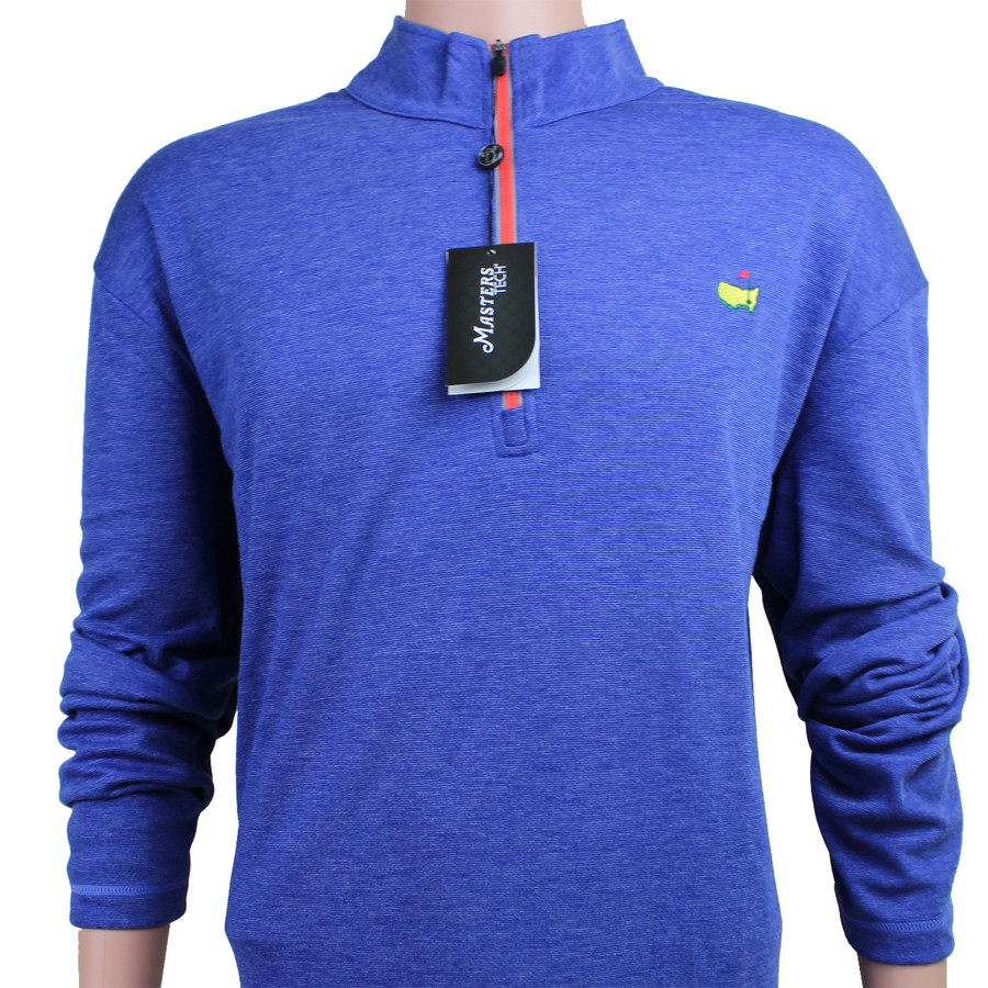 Masters Tech Blue with Red 1/4 Zip Performance Tech Jacket