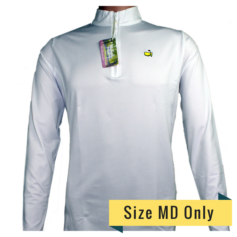 Masters Magnolia Lane Ladies White 1/4 Zip Jacket