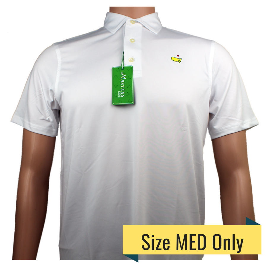 Masters Youth White Performance Tech Golf Shirt
