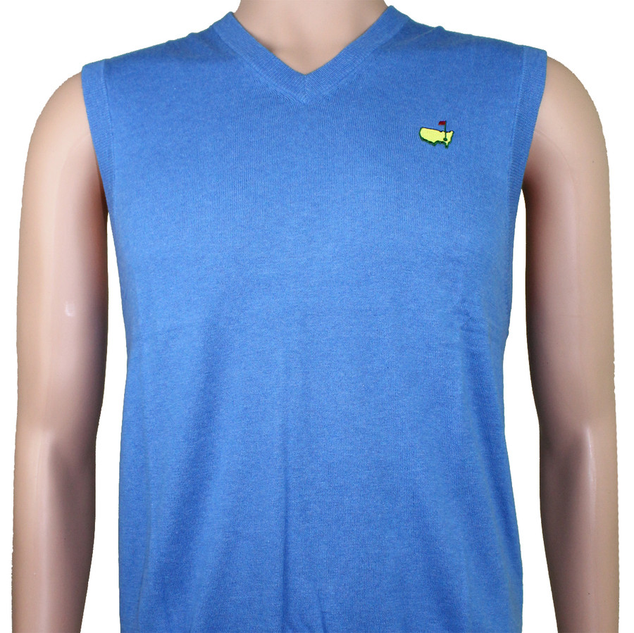 Masters Blue Wool Clubhouse Collection Vest