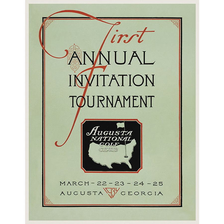 Masters 1934 Invitational Poster