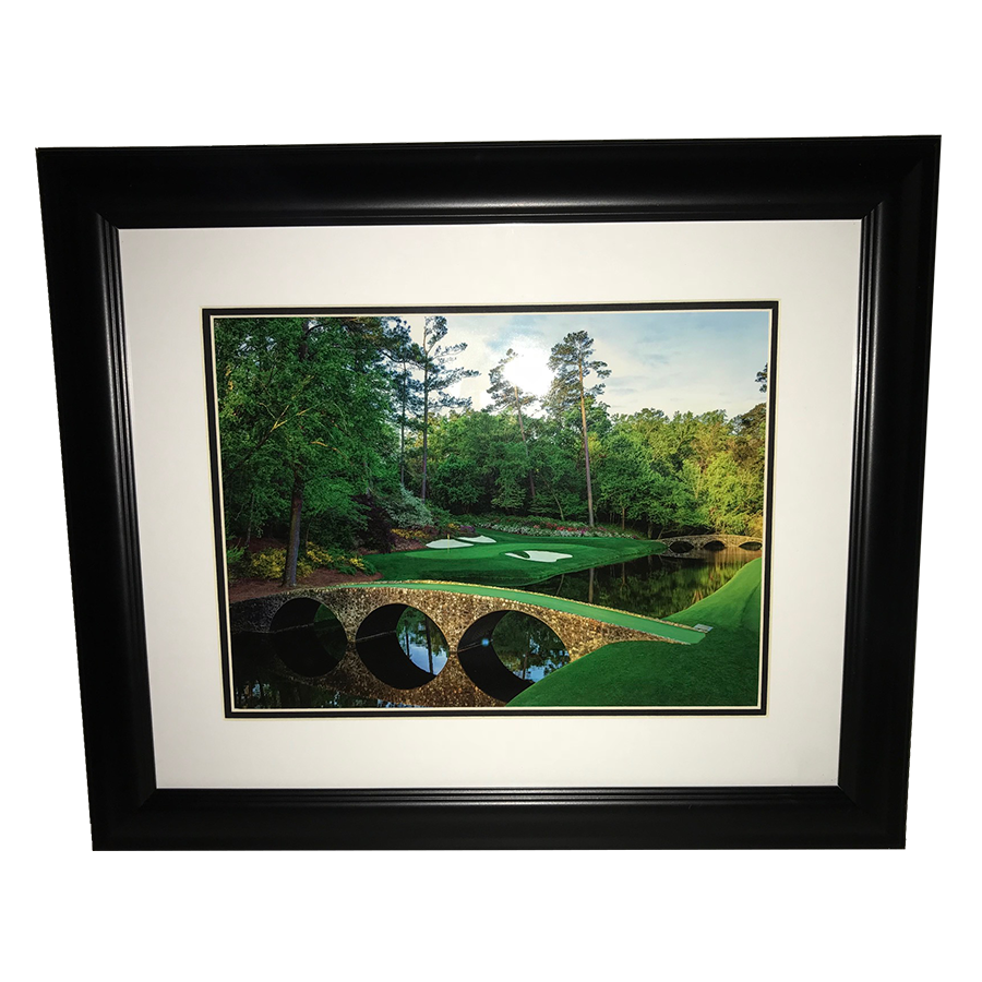 Masters Bridge Framed Portrait- 12th Hole Golden Bell