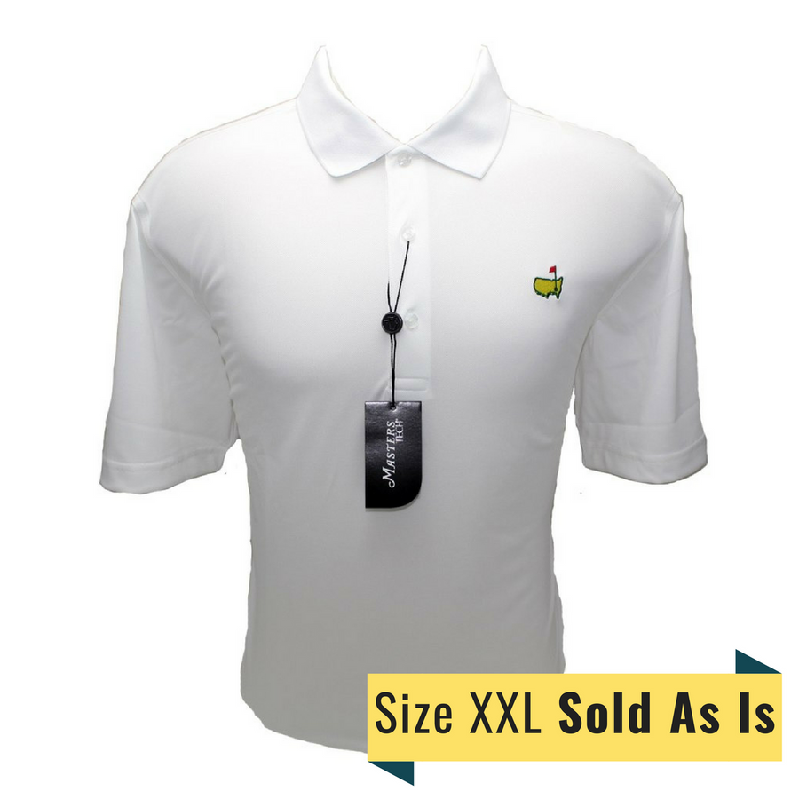 Masters Size XXL White Tech Golf Shirt *Sold As Is