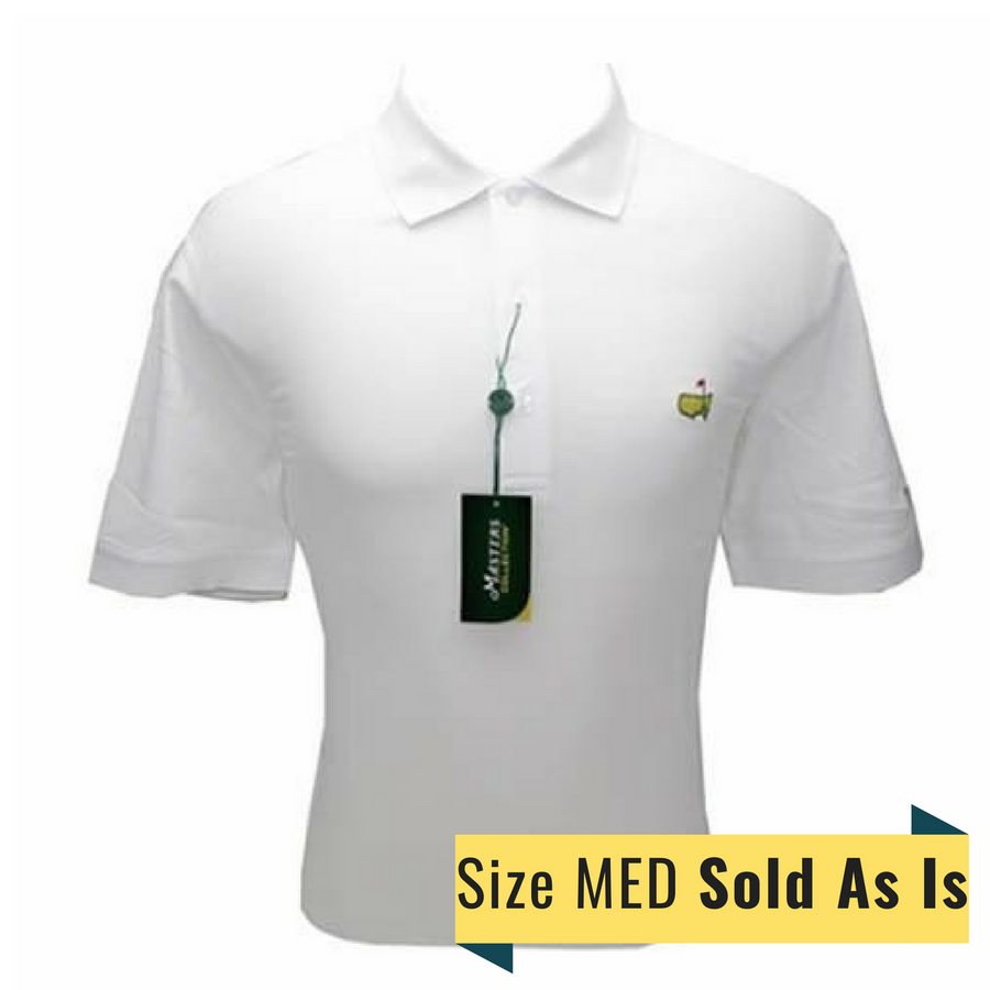 Masters SIZE MED White Tech Golf Shirt *Sold As Is