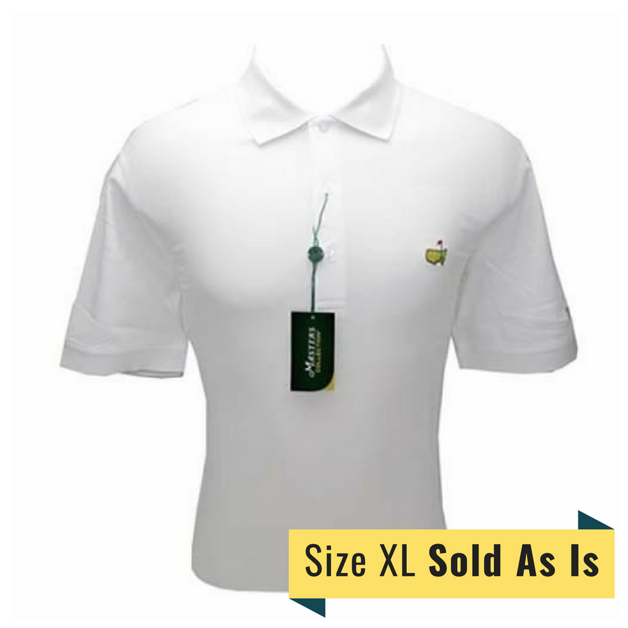 Masters White Polo-Size XL *Sold As Is