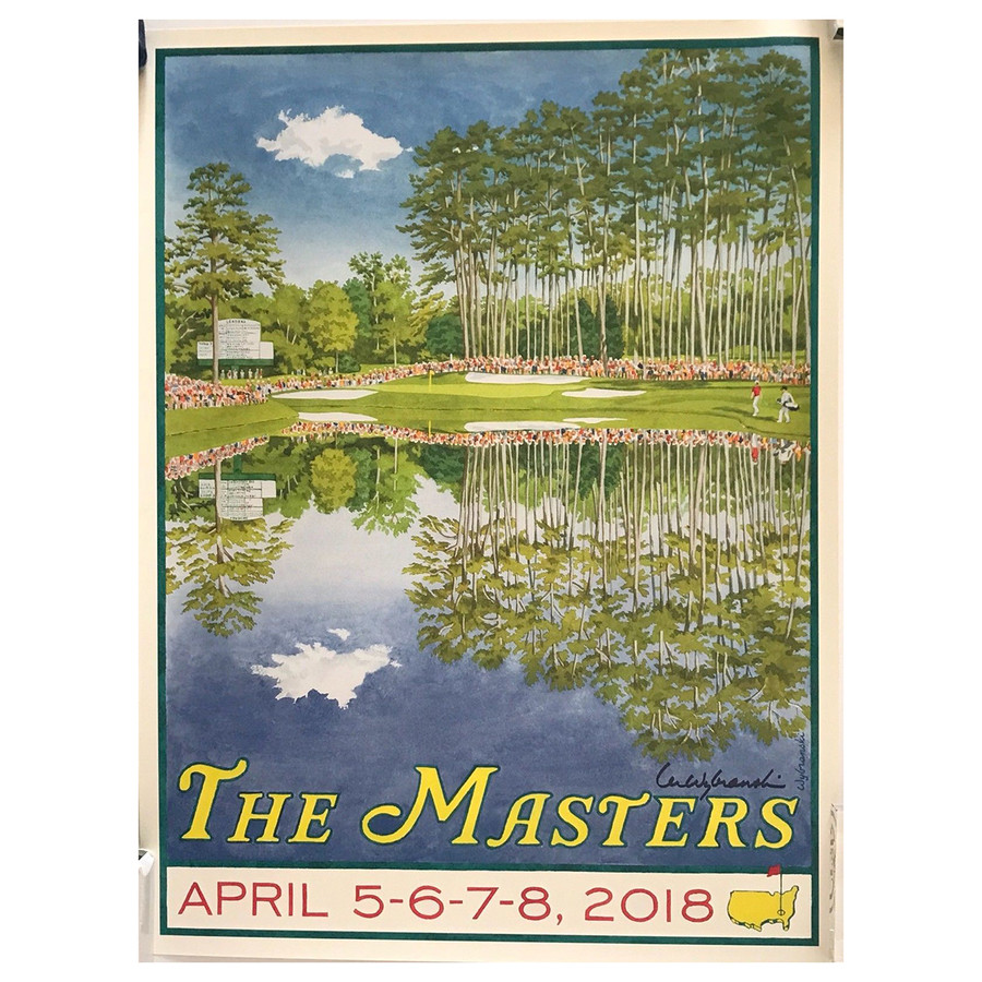The Masters 2018 Poster by Artist Lee Wybranski- 16th Hole
