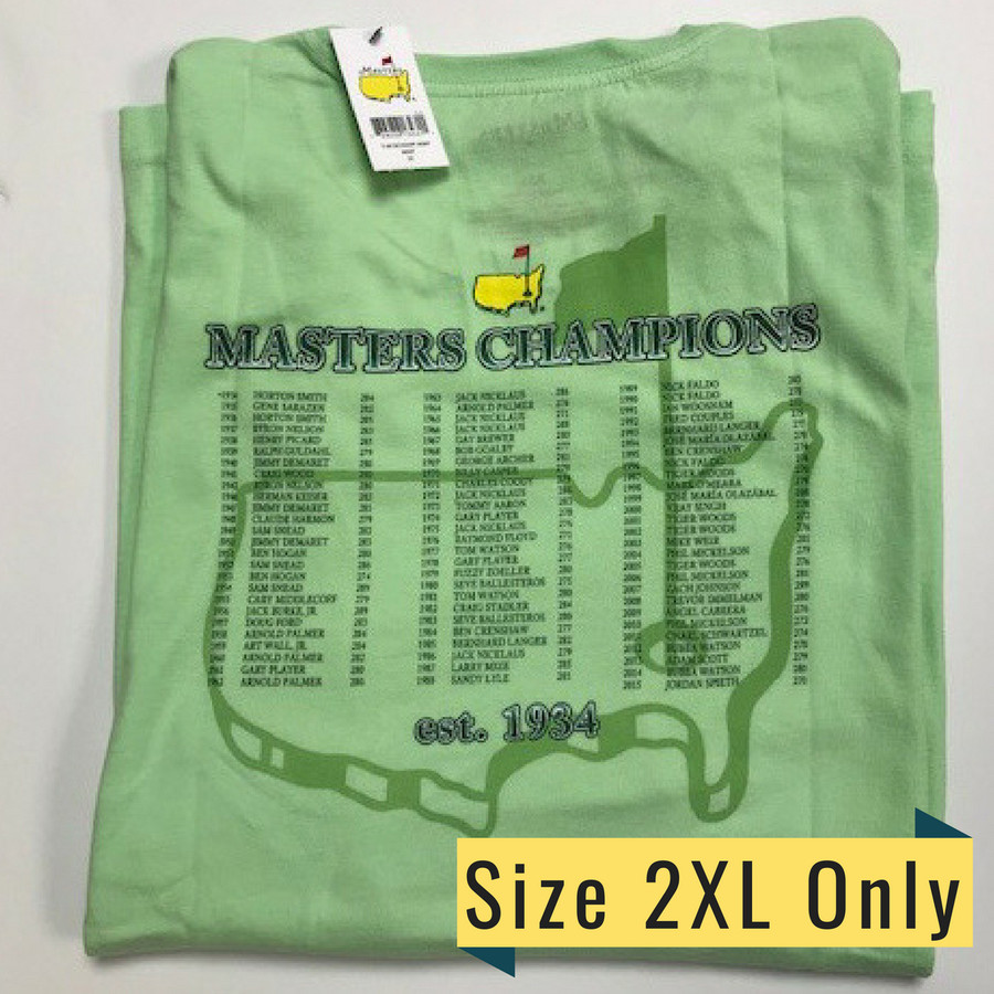 2016 Masters Champions T Shirt- Lime Green