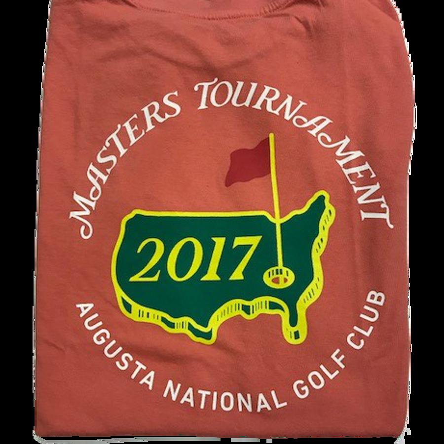 2017 Masters Logo T-Shirt- Salmon