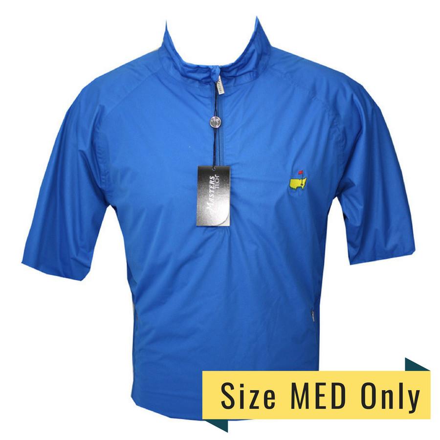 Masters Tech Royal Blue Short Sleeve Wind Shirt