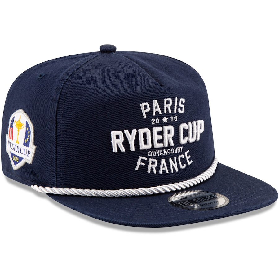 2018 Ryder Cup Golfer Rope Navy Hat- New Era Snapback