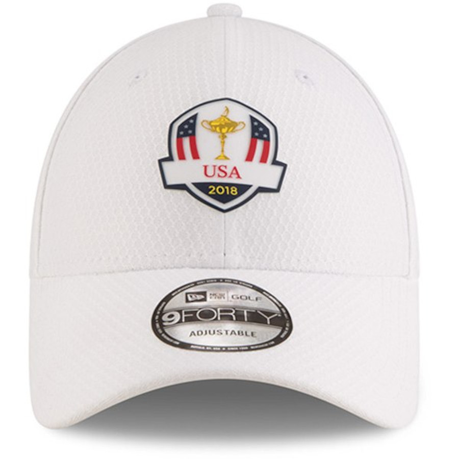 2018 Ryder Cup USA Practice Hat-New Era Golf Tech- White