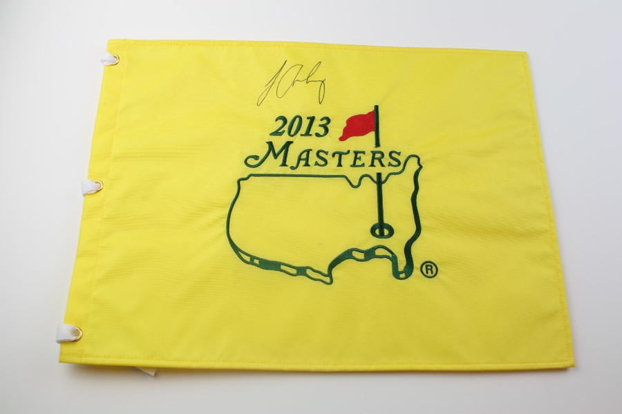 Louis Oosthuizen signed Authentic Augusta National 2013 Masters Pin Flag -