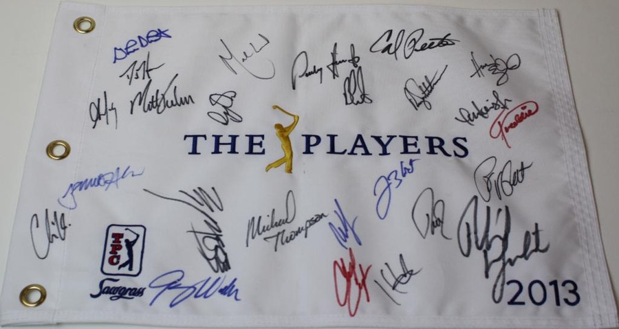 Multi Signed 2013 The Players Championship Flag