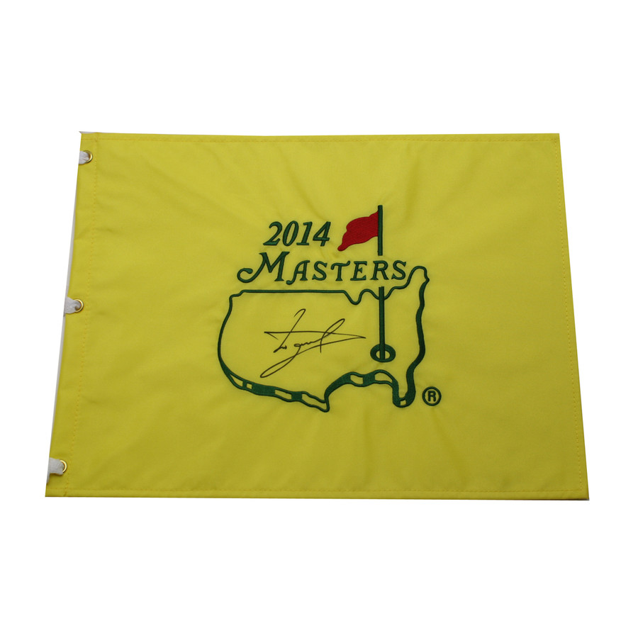 Luke Donald Autographed 2014 Masters Pin Flag
