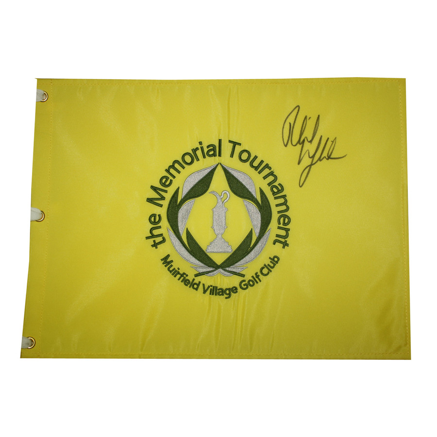 Phil Mickelson Autographed The Memorial Tournament Embroidered Pin Flag