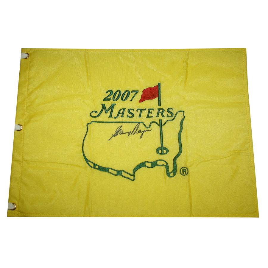 Gary Player Autographed 2007 Masters Golf Embroidered Pin Flag - JSA COA