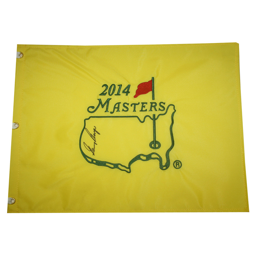 Gary Player Autographed 2014 Masters Golf Embroidered Pin Flag