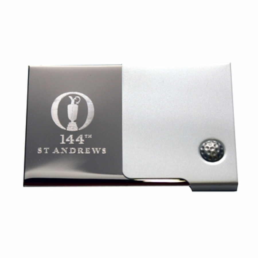 144th British Open Logo St Andrews Business Card Holder