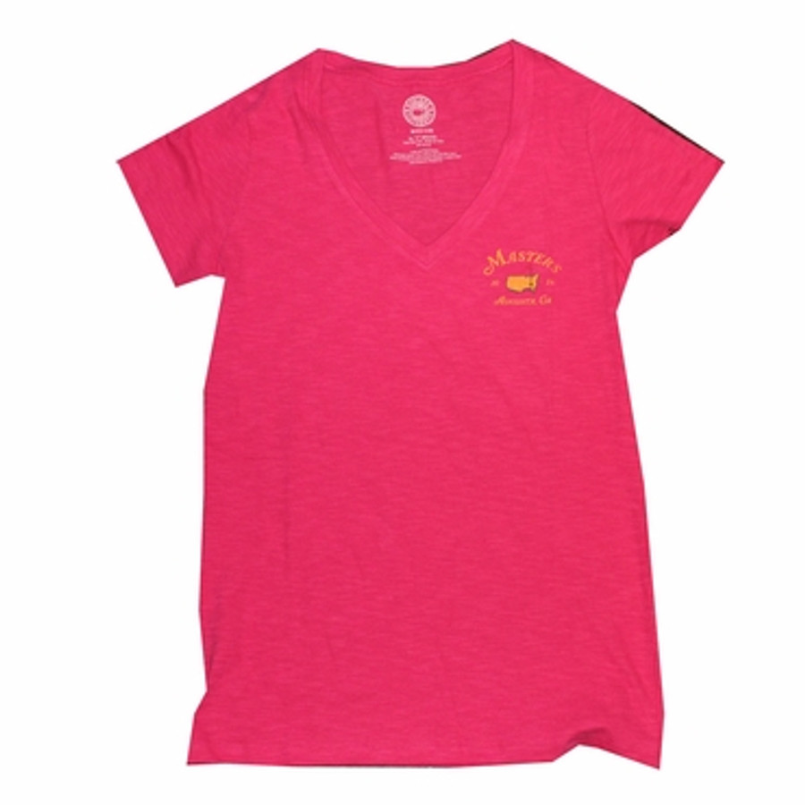Ladies 2015 Masters V-Neck T-Shirt - Pink