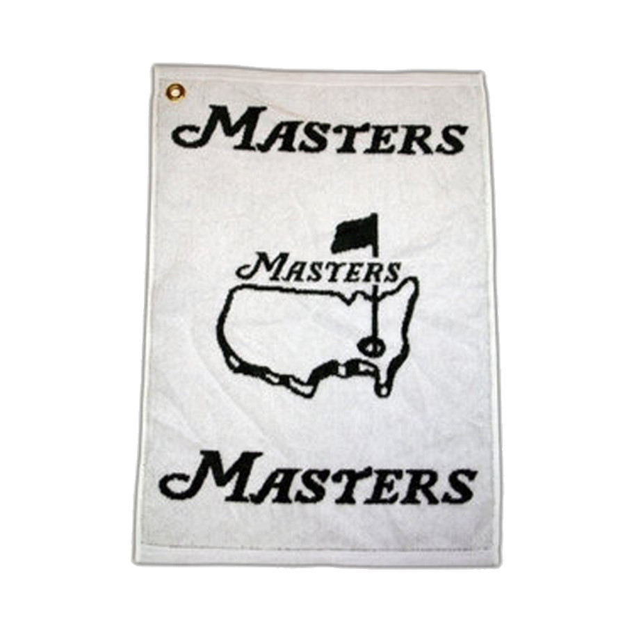 Masters Woven Golf Towel - White & Green