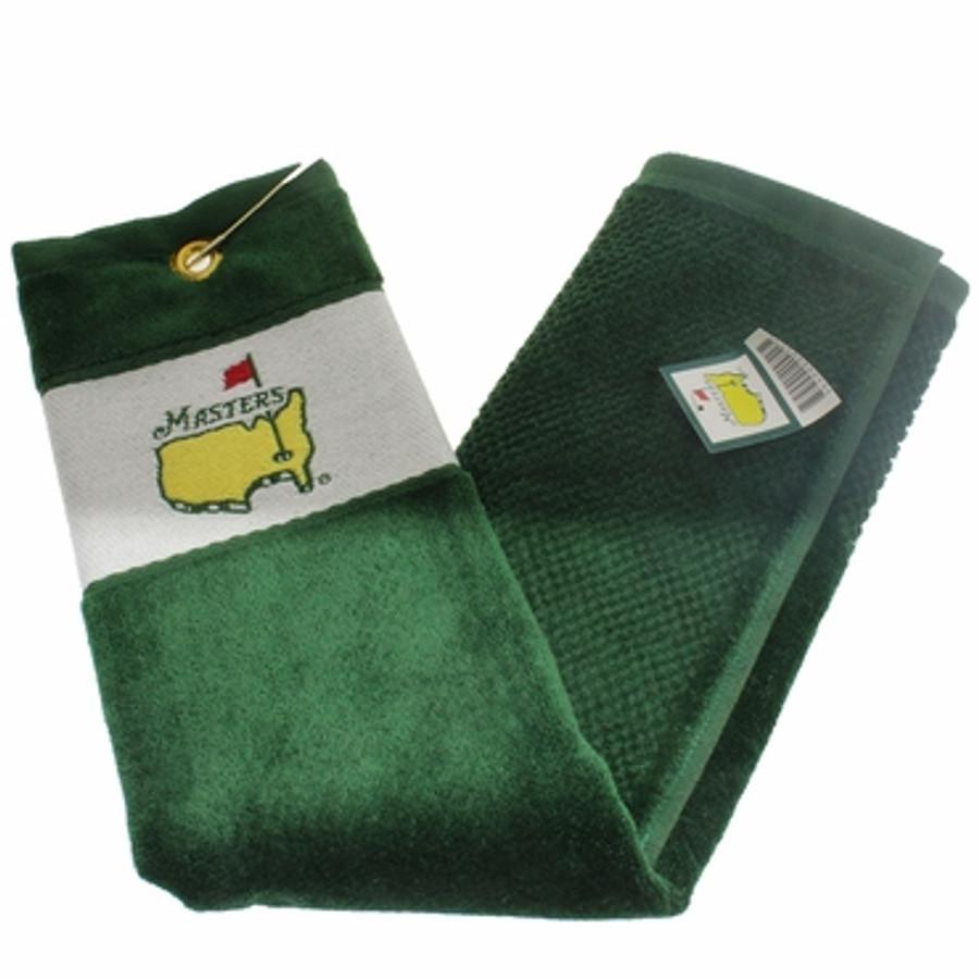 Masters Tri Fold Golf Towel - Green/White