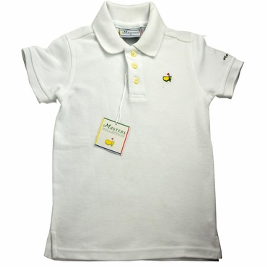 Masters Youth Golf Shirt - White