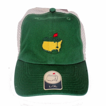 9423d297788 Masters Green Fitted Trucker Hat - Masters Hats   Visors
