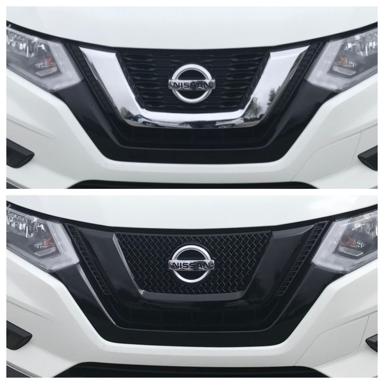 Glossy Black Grille Overlay For Nissan Rogue 2017 707 Motoring Auto Parts Accessories