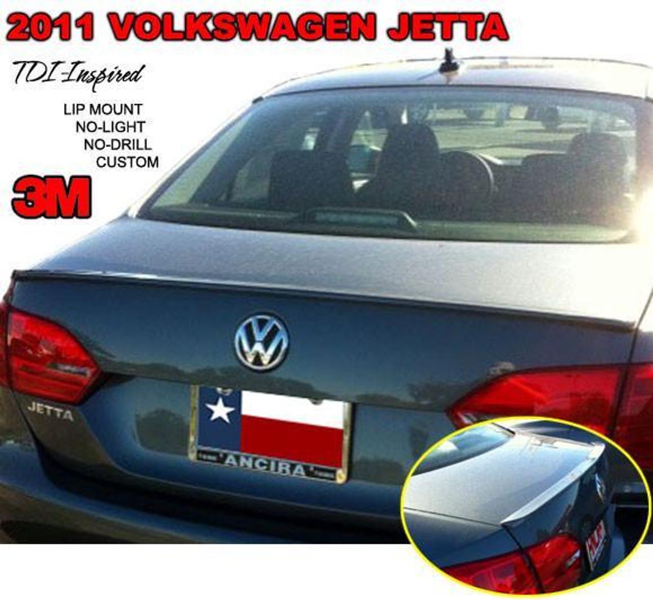 Volkswagen Jetta 2011 2014 Custom Lip No Light Rear Trunk Spoiler 707 Motoring Auto Parts Accessories