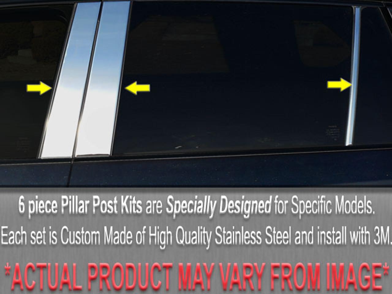 PP21770 For MAZDA MILLENIA 1995-2002 4PC Stainless Steel Pillar Post Trim
