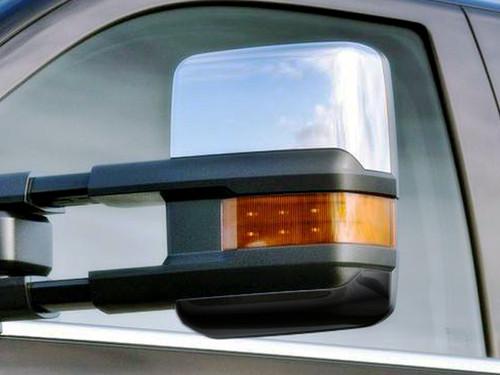 Chrome ABS plastic Mirror Covers for Chevrolet Silverado 2014-2018