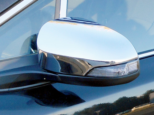 Chrome ABS plastic Mirror Covers for Toyota Yaris 2012-2014