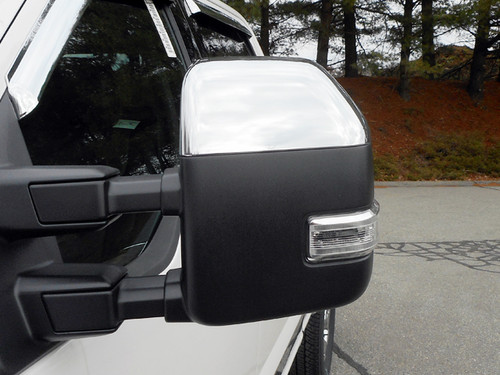 Chrome ABS plastic Mirror Covers for Ford F-250 & F-350 Super Duty 2018-2020