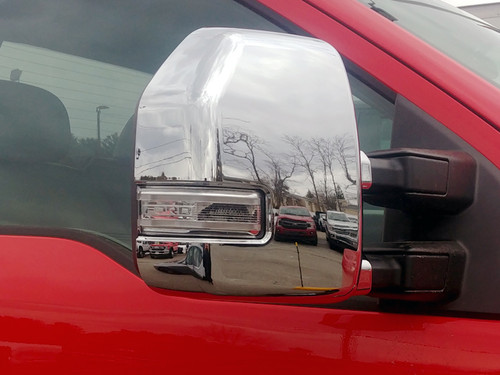Chrome ABS plastic Mirror Covers for Ford F-150 2017-2020