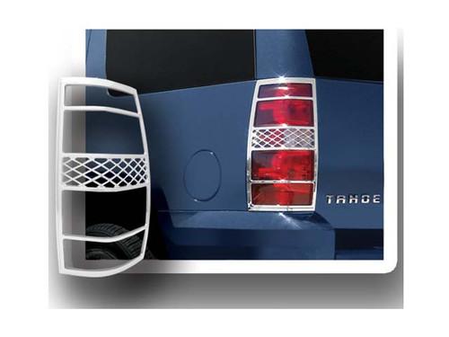 Chrome ABS plastic Tail Light Bezels for Chevrolet Suburban 2007-2012