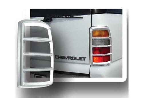 Chrome ABS plastic Tail Light Bezels for Chevrolet Tahoe 2000-2006