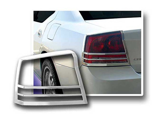 Chrome ABS plastic Tail Light Bezels for Dodge Charger 2006-2010