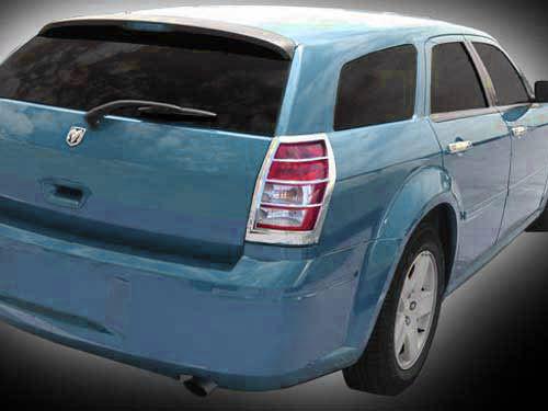 Chrome ABS plastic Tail Light Bezels for Dodge Magnum 2005-2008