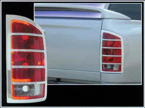 Chrome ABS plastic Tail Light Bezels for Dodge Ram 2002-2008