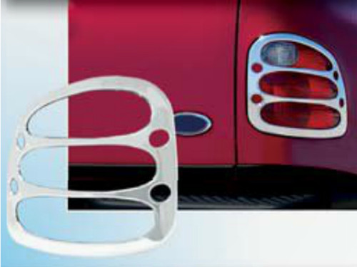 Chrome ABS plastic Tail Light Bezels for Ford F-150 1997-2003