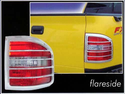 Chrome ABS plastic Tail Light Bezels for Ford F-150 2004-2008